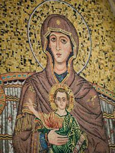 Mosaic Madonna, Corso Umberto 1, Taormina, Sicily, Italy by Walter Bibikow