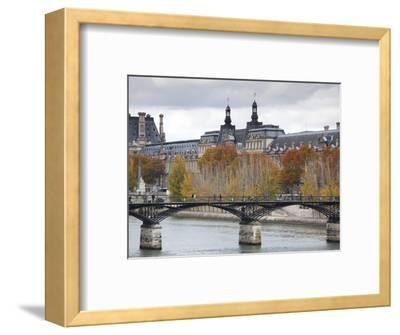 Musee De Louvre Museum and Pont Des Arts Bridge, Paris, France