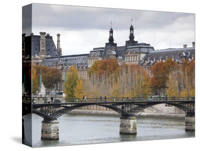 Musee De Louvre Museum and Pont Des Arts Bridge, Paris, France
