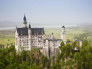 Neuschwanstein Castle, Schwangau, Deutsche Alpenstrasse, Bayern-Bavaria, Germany by Walter Bibikow