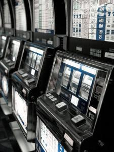 Nevada, Las Vegas, Mccarran International Airport, Slot Machines, USA by Walter Bibikow