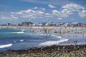 New Hampshire, Hampton Beach, Beach in Summer by Walter Bibikow