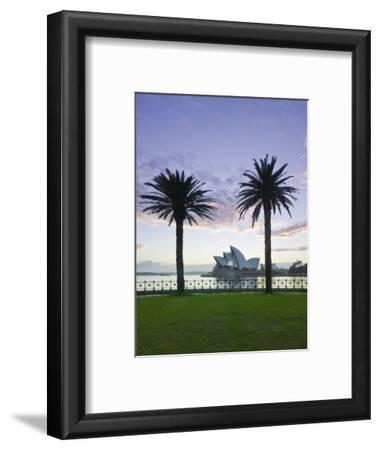 New South Wales, Sydney, Sydney Opera House Through Palms, Australia