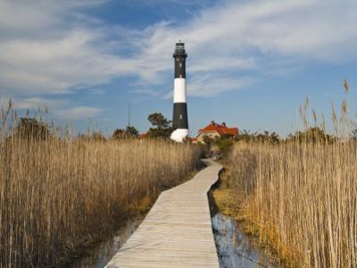 New York, Long Island, Fire Island, Robert Moses State Park, Fire Island Lighthouse, USA by Walter Bibikow