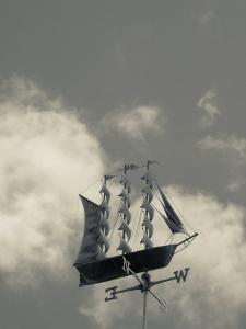 New York, Long Island, Greenport, Tall Ship Weather Vane, USA by Walter Bibikow