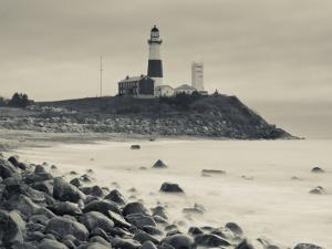 New York, Long Island, Montauk, Montauk Point Lighthouse, USA by Walter Bibikow