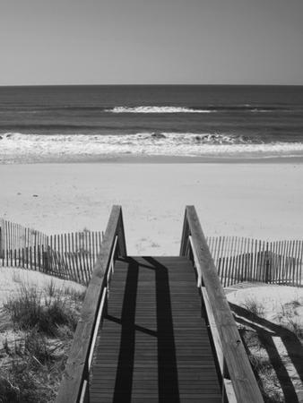 New York, Long Island, the Hamptons, Westhampton Beach, Beach View from Beach Stairs, USA