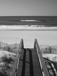 New York, Long Island, the Hamptons, Westhampton Beach, Beach View from Beach Stairs, USA by Walter Bibikow
