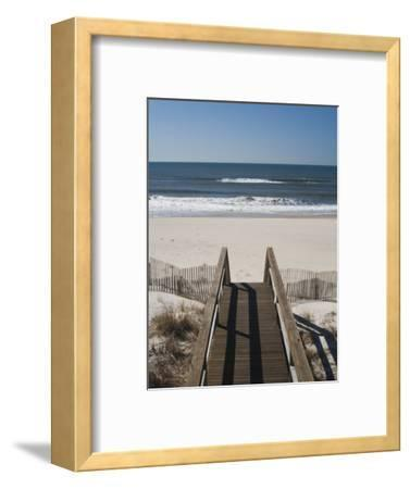 New York, Long Island, the Hamptons, Westhampton Beach, Beach View from Beach Stairs, USA
