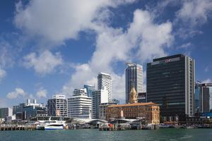 New Zealand, North Island, Auckland. Harbor view skyline. by Walter Bibikow