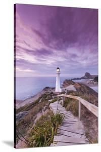 New Zealand, North Island, Castlepoint. Castlepoint Lighthouse by Walter Bibikow
