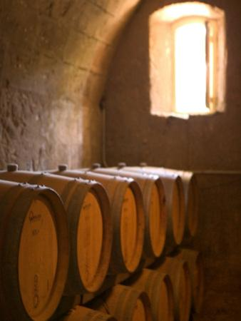 Niebaum-Coppola Estate Winery Wine Cellar, Rutherford, Napa Valley, California by Walter Bibikow