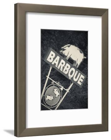 North Carolina, Bryson City, Sign for Barbeque, Bbq, Restaurant
