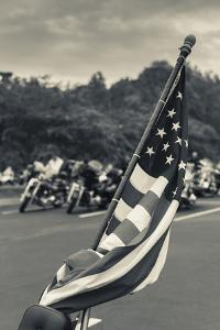 North Carolina, Charlotte, Flag at Rally of Christian Motorcycle Clubs by Walter Bibikow