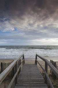 North Carolina, Outer Banks National Seashore, Kitty Hawk, Waterfront by Walter Bibikow