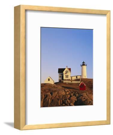 Nubble Lighthouse at Sunset, Cape Neddick, York, Maine, USA