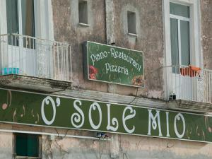 O'Sole Mio Pizzeria Sign, Ischia, Bay of Naples, Campania, Italy by Walter Bibikow