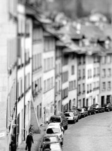 Old City Buildings in Berne, Switzerland by Walter Bibikow