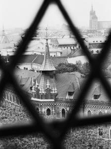 Old Town from Window of Wavel Cathedral, Krakow, Poland by Walter Bibikow