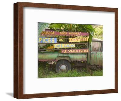 Old Truck with Spice Signs, Basse-Terre, Guadaloupe, Caribbean