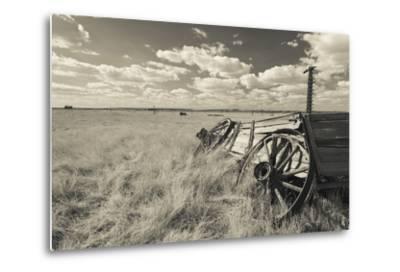 Old Wagon, Prairie Homestead, Cactus Flat, South Dakota, USA