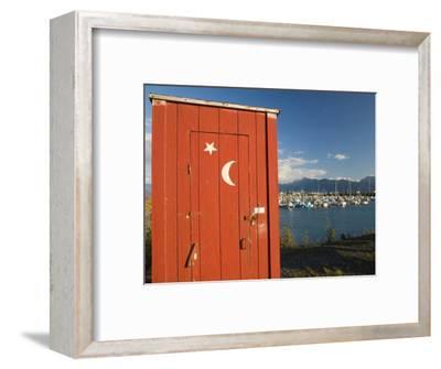 Outhouse and Boat Harbor, Homer, Kenai Peninsula, Alaska, USA
