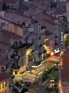 Overview of Rue Faure, Cannes, France by Walter Bibikow