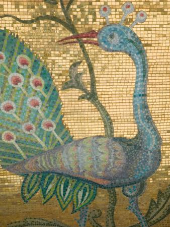Peacock Mosaic, Eleftherotria Monastery, Macherado, Zakynthos, Ionian Islands, Greece by Walter Bibikow