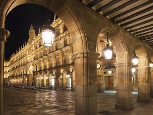 Plaza Mayor, Salamanca, Spain by Walter Bibikow