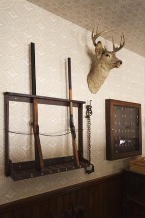 Police Station Gun Rack, Old Cowtown Museum, Wichita, Kansas, USA