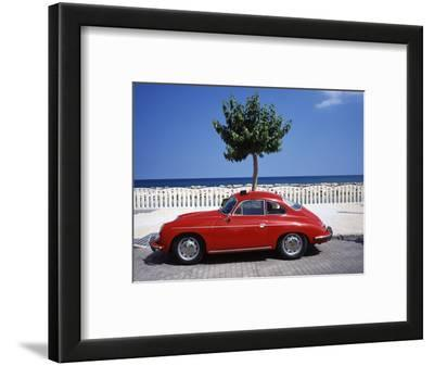 Porsche 356 on the Beach, Altea, Alicante, Costa Blanca, Spain