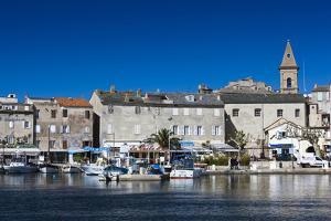 Port View of St-Florent, Le Nebbio, Corsica, France by Walter Bibikow