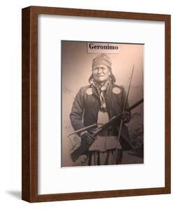 Poster of Geronimo Indian Chief, America's Gunfight Capital, Tombstone, Arizona, USA by Walter Bibikow