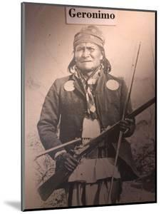 Poster of Geronimo Indian Chief, America's Gunfight Capital, Tombstone, Arizona, USA by Walter Bibikow