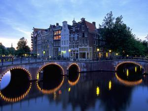 Prinsengracht Canal, Amsterdam, Holland by Walter Bibikow