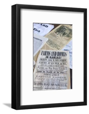 Print Shop Paper, Old Cowtown Museum, Wichita, Kansas, USA