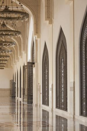 Qatar, Doha, Abdul Wahhab Mosque, the State Mosque of Qatar, Courtyard Walkway by Walter Bibikow