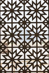 Qatar, Doha, Abdul Wahhab Mosque, the State Mosque of Qatar, Window Detail by Walter Bibikow