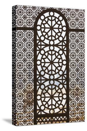 Qatar, Doha, Abdul Wahhab Mosque, the State Mosque of Qatar, Window Detail