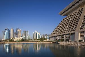 Qatar, Doha, West Bay City Skyline by Walter Bibikow