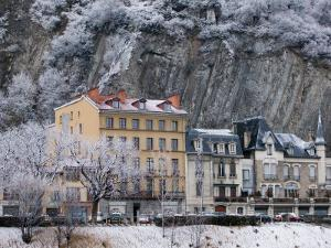 Quai De France Along the Isere River, Grenoble, Isere, French Alps, France by Walter Bibikow