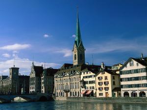 River Limmat, Zurich, Switzerland by Walter Bibikow