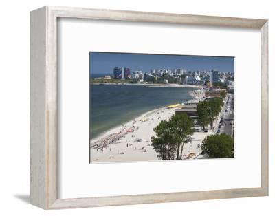 Romania, Black Sea Coast, Mamaia, Elevated Beach View