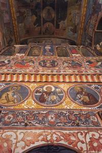 Romania, Bucharest-Area, Snagov, Snagov Monastery. Frescoes by Walter Bibikow