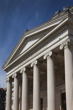 Romania, Bucharest, Romanian Athenaeum, Exterior