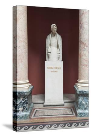 Romania, Bucharest, Romanian Athenaeum, Statue of George Enescu