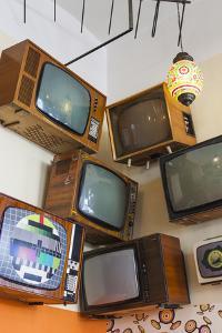 Romania, Crisana Region, Oradea, Lactobar, Soviet Era Televisions by Walter Bibikow