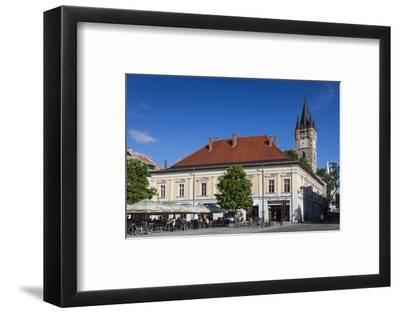 Romania, Maramures, Baia Mare, St. Stephan's Tower and Buildings