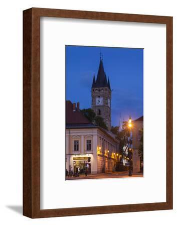 Romania, Maramures Region, Baia Mare, Piata Libertatii Square at Dusk