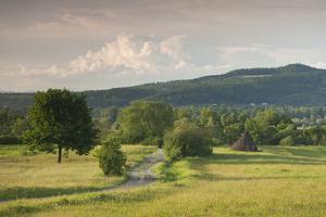 Romania, Maramures Region, Sarasau, Country Road by Ukrainian Frontier by Walter Bibikow